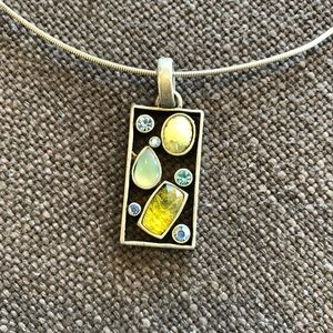 Lia Sophia Choker Necklace Silver and Stones